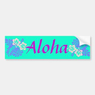 Aloha hibiscus bumper sticker