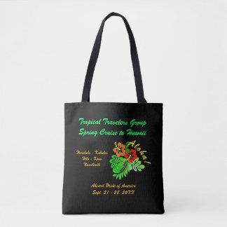 Aloha Hibiscus Custom Group Cruise Dark Tote Bag