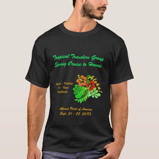 Aloha Hibiscus Custom Group Cruise T-Shirt
