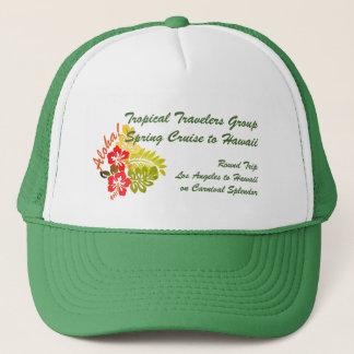 Aloha Hibiscus Custom Group Cruise Trucker Hat