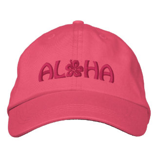 Aloha Hibiscus Embroidered Hat