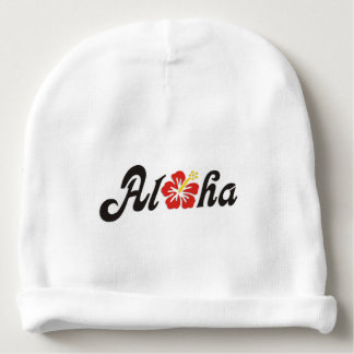 Aloha Hibiscus - flat Hawaii design + your ideas Baby Beanie