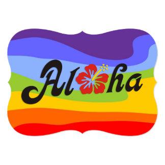 Aloha Hibiscus - flat Hawaii design + your ideas Card