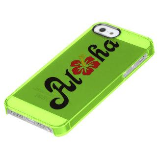 Aloha Hibiscus - flat Hawaii design + your ideas Clear iPhone SE/5/5s Case