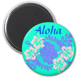 Aloha hibiscus magnet