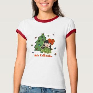 Aloha Honeys Christmas Hawaiian Hula Girl T-Shirt