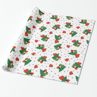 Aloha Honeys Christmas Hawaiian Hula Girl Wrapping Paper