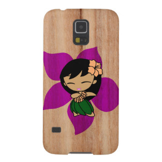 Aloha Honeys Hawaiian Hula Girl Faux Wood Case For Galaxy S5