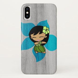 Aloha Honeys Hawaiian Hula Girl Faux Wood iPhone X Case