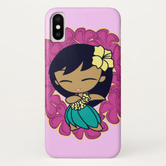 Aloha Honeys Hawaiian Hula Girl Plumeria Lei iPhone X Case