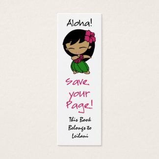 Aloha Honeys Skinny Bookmark Mini Business Card