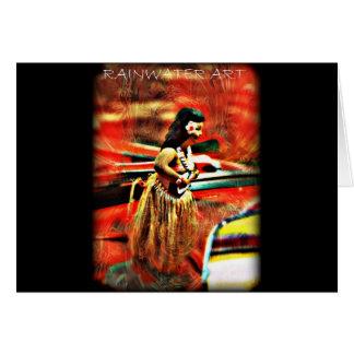 Aloha Hula Girl Card