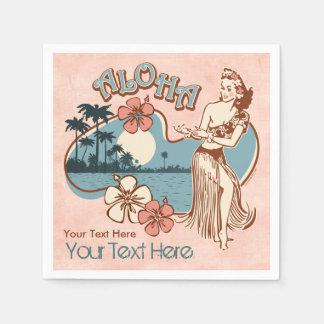 Aloha Hula Girl Paper Serviettes