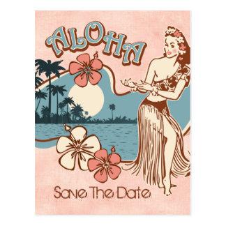 Aloha Hula Girl STD Postcard