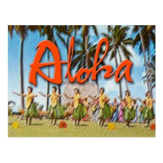 Aloha Hula Post Card