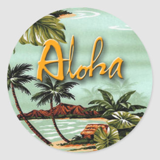 Aloha Island Classic Round Sticker
