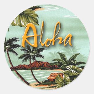 Aloha Island Round Sticker