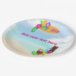 Aloha Luau Paper Plates