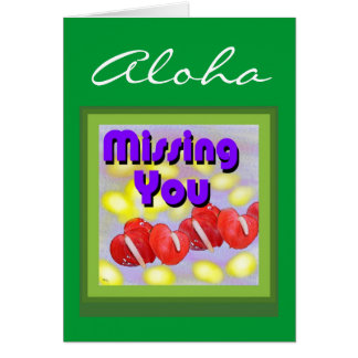 Aloha (missing you) Card
