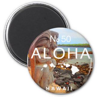 Aloha No 50 Tiki Magnet