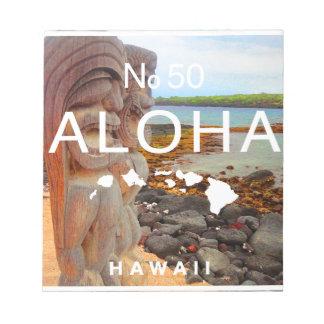 Aloha No 50 Tiki Notepad