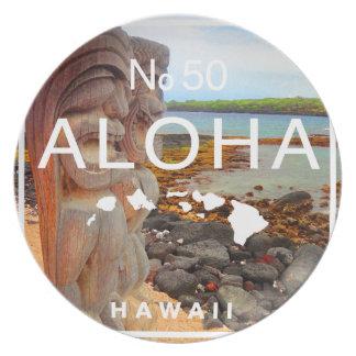 Aloha No 50 Tiki Plate