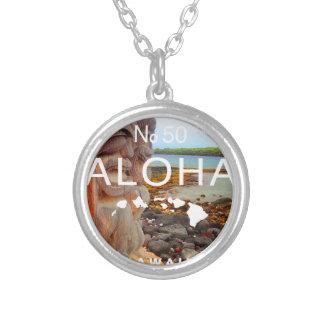 Aloha No 50 Tiki Silver Plated Necklace