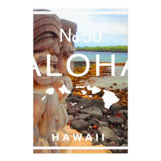 Aloha No 50 Tiki Stationery