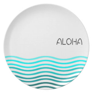 Aloha Ombre Wave Party Plates