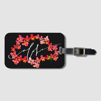 Aloha Orchid Lei Luggage Tags