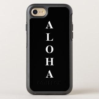 Aloha personalized Monograms Typography Black OtterBox Symmetry iPhone 8/7 Case
