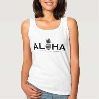 ALOHA pineapple (Black) Singlet