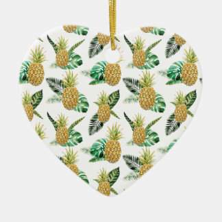 Aloha Pineapple Ceramic Ornament