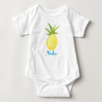 Aloha Pineapple Watercolor Infant Shirt
