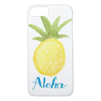 Aloha Pineapple Watercolor iPhone 7 Case
