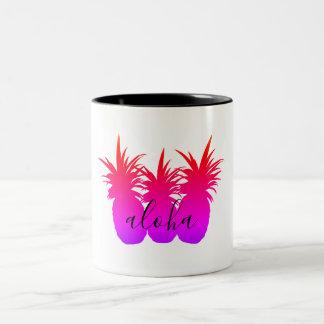 Aloha Pineapple White Coffee Beverage Mug