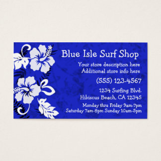 Aloha Print Business Card Template