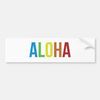 Aloha Rainbow Bumper Sticker