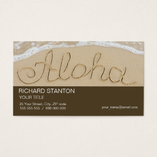 Aloha sand word business card
