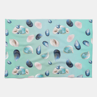 Aloha SeaShell Sea Shell Pearl Pattern Hand Towels