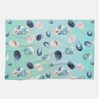 Aloha SeaShell Sea Shell Pearl Pattern Tea Towel