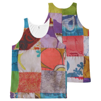 Aloha Shirt Quilt Design All-Over-Print Tank Top