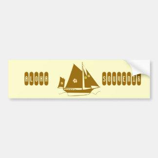 Aloha Souvenir Yacht Bumper Stickers