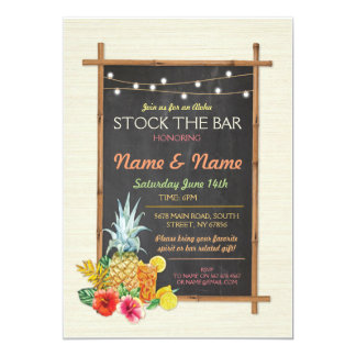 Aloha Stock The Bar Cocktail Engagement Invite