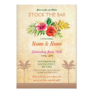 Aloha Stock The Bar Luau Vintage Palm Tree Invite