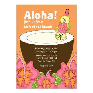 Aloha Summer Party Luau Invitation