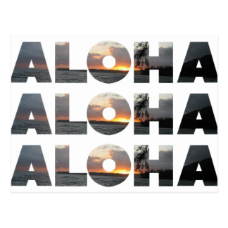 Aloha Sunset Postcard