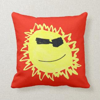 ALOHA SUNSHINE! Pillon in RED Throw Pillow