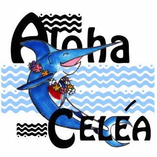 Aloha Swordfish Key Chain or Pool Bag Tag Photo Sculpture Key Ring