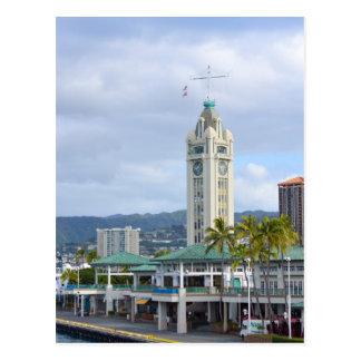 Aloha Tower, Honolulu, Hawaii Postcard